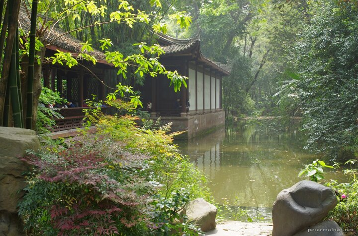 "The ""Du Fu Thatched Cottage"" is a large area which includes nice scenes and ponds"