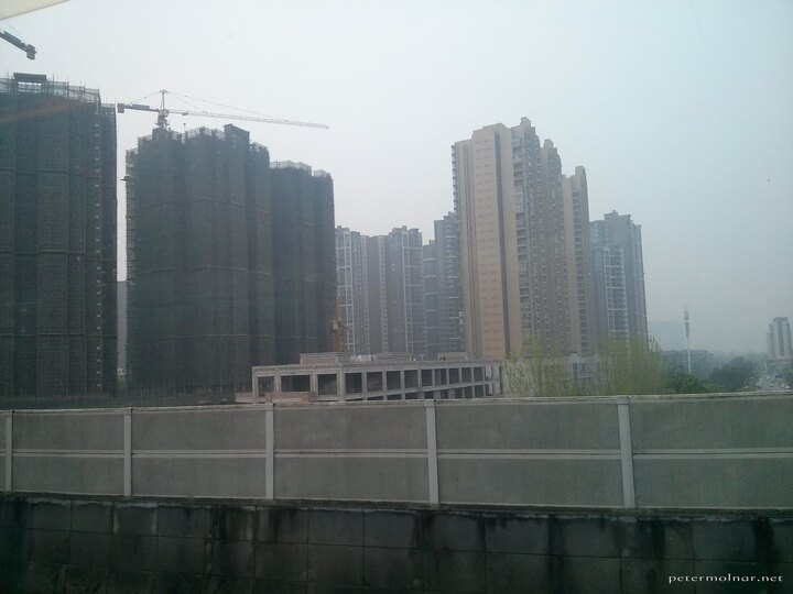 Unmistakenly Asian contruction of flats