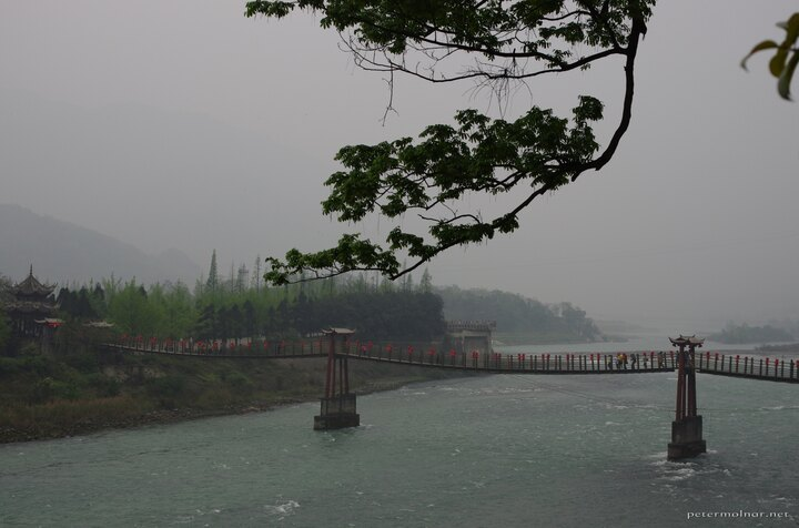 Anlan Bridge and the irigation system in Dujiangyan