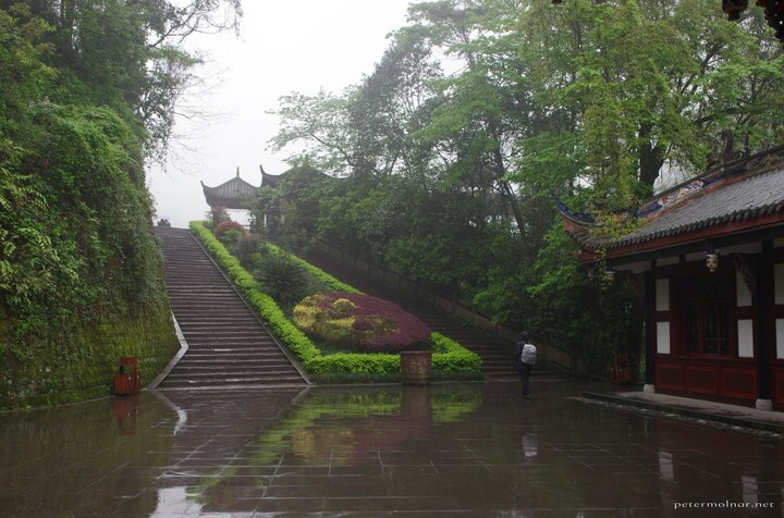 Qingcheng in the rain is quite deserted, but still beautiful: the water adds a lof of reflection