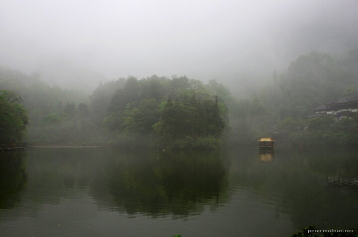 The ferry on the front mountain of Mount Qingcheng
