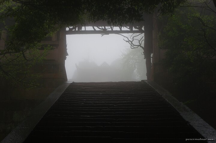 Ancient gate on Mount Qingcheng