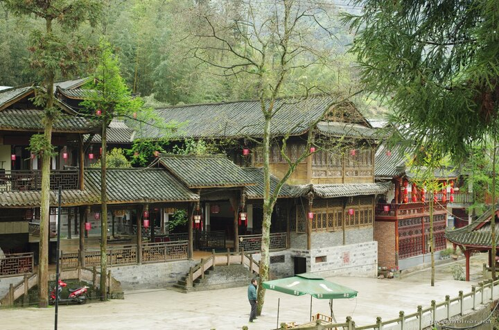 The first village at the rear peak of Mount Qingcheng