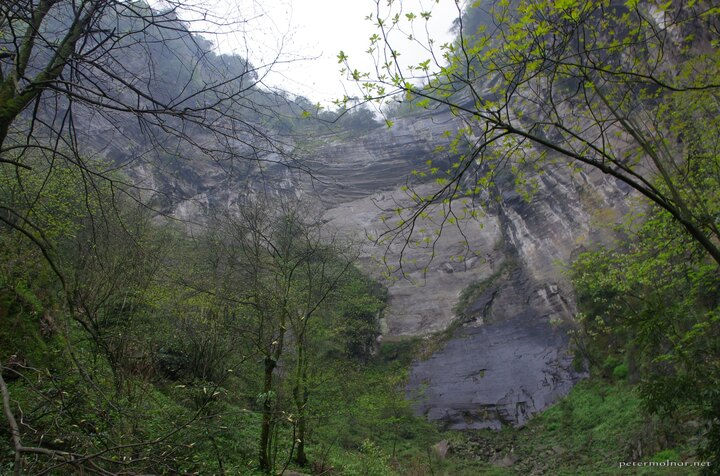 Huge cliffs at Emeishan