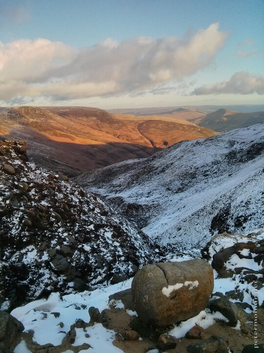Peak District in the winter - sunset scenery