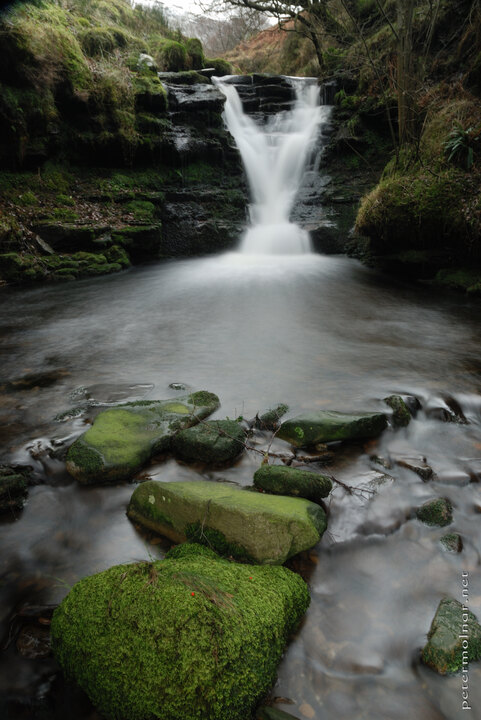 Peak District in the winter - waterfall