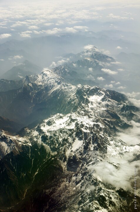 View of mountains from the plane on our way to Chengdu 2