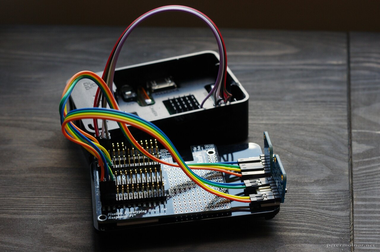 Environmental sensor logging with Rasbperry Pi, Adafruit