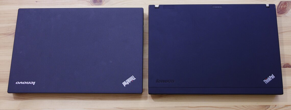 ThinkPad X200: right vs X250: left, top view