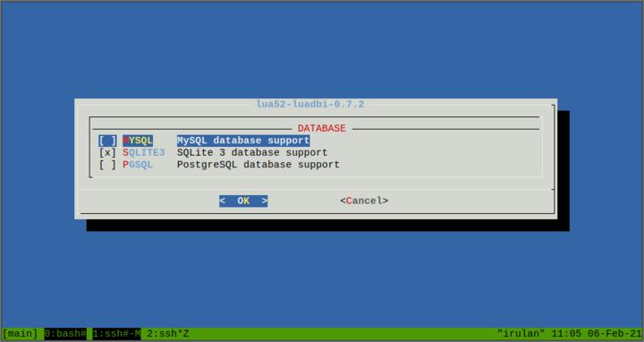 luadbi SQLite3 támogatással