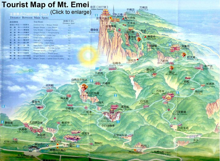 map of Emeishan - you won't get a better one