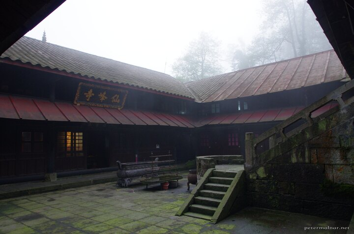 A part of the monastery we slept at at Emeishan